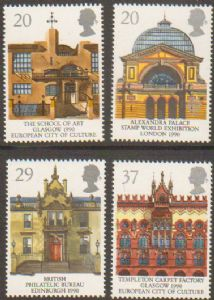 SG1493-149 1990 Architecture (Europa) Stamp Set